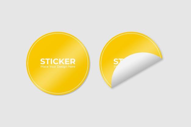 두 개의 접착 스티커 모형 세트 프리미엄 PSD 파일