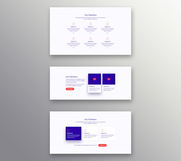 The set of solutions banner Premium Psd