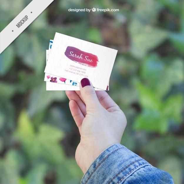 Several creative corporative card mockups Free Psd