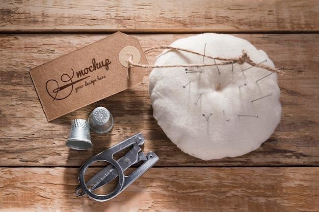 針で縫製のコンセプト 無料 Psd