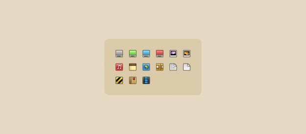 Sexy 16px icons Free Psd