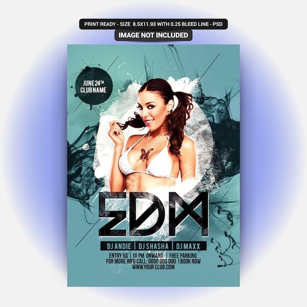 Sexy girl party flyer Premium Psd