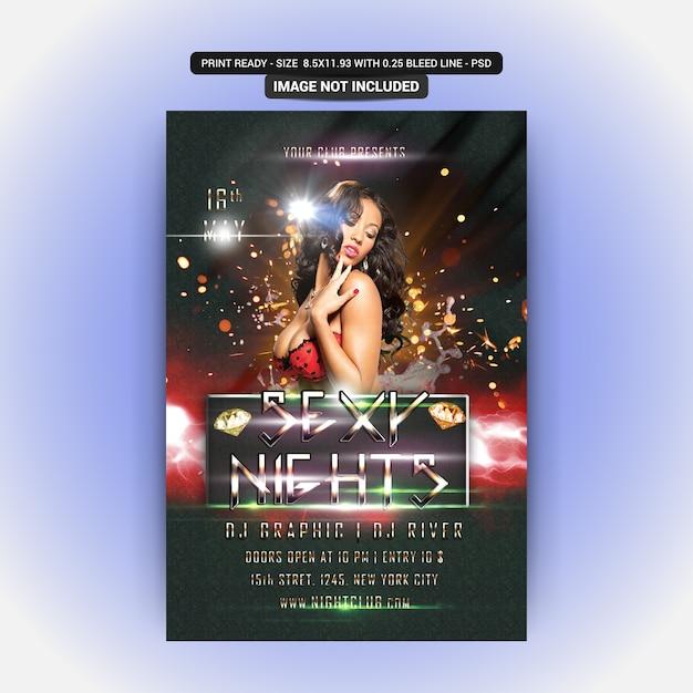 Sexy nights party Premium Psd