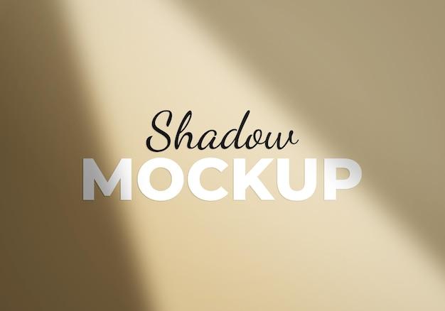 Shadow overlay effect mockup