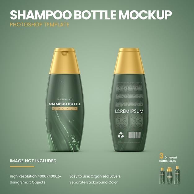 Shampoo bottle mockup Premium Psd