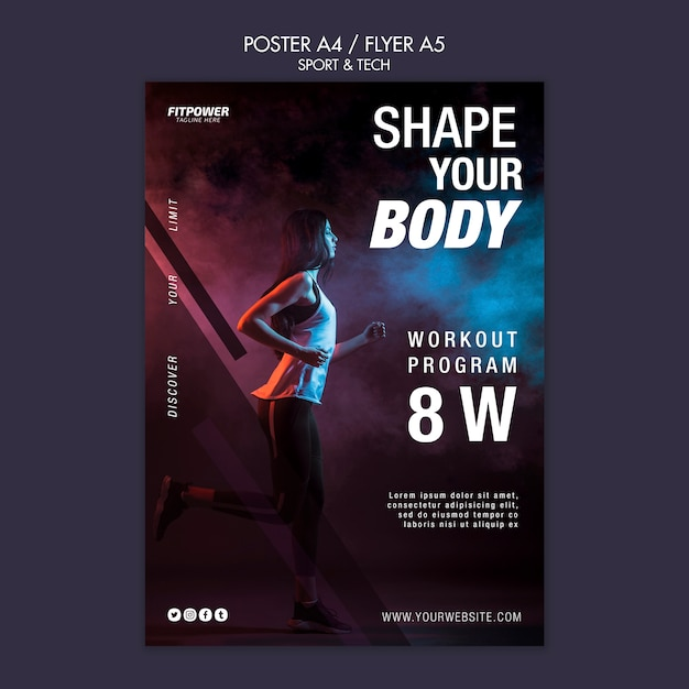 Shape your body poster template Free Psd