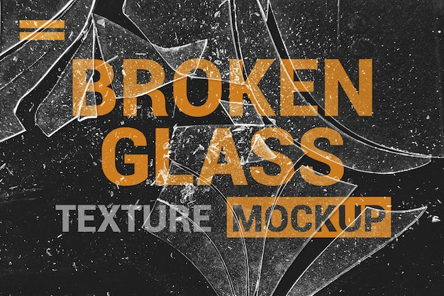 Shards of glass effects mockup Premium Psd