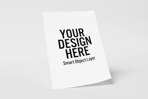 Sheet of paper mockup Premium Psd