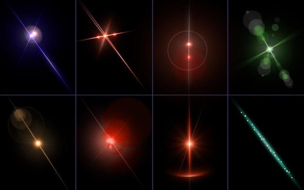 Сверкающий свет абстрактные линзы бликов Premium Psd