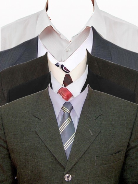 Shirt and suit size mockup. Free Psd