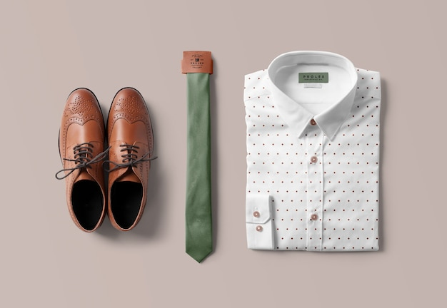 Shirt and tie mockup isolated Premium Psd