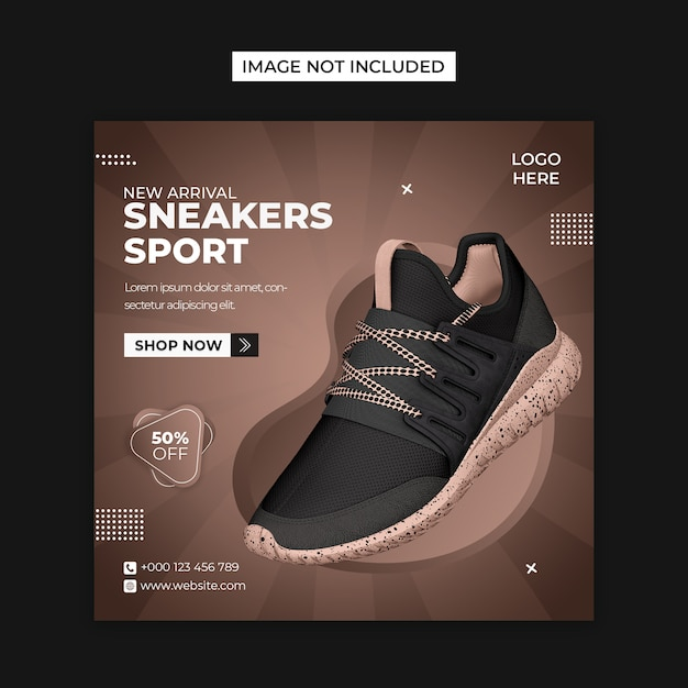 Shoes product social media and instagram post template Premium Psd