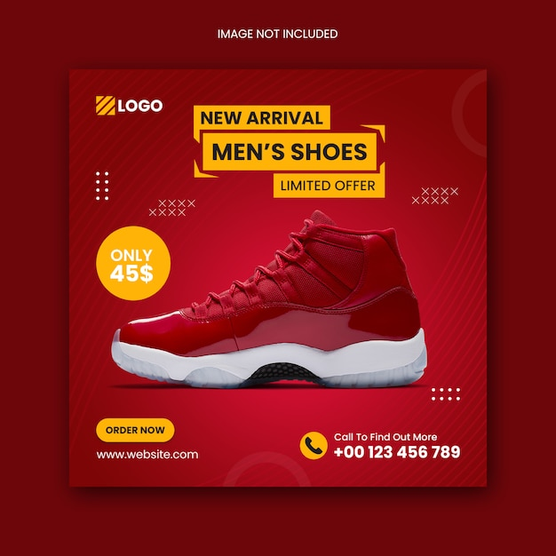 Premium PSD | Shoes social media instagram post and square ...