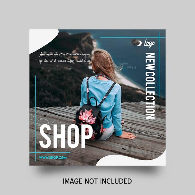 Shop instagram post template Premium Psd