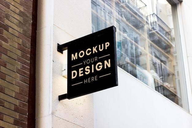 Shop signboard mockup Free Psd