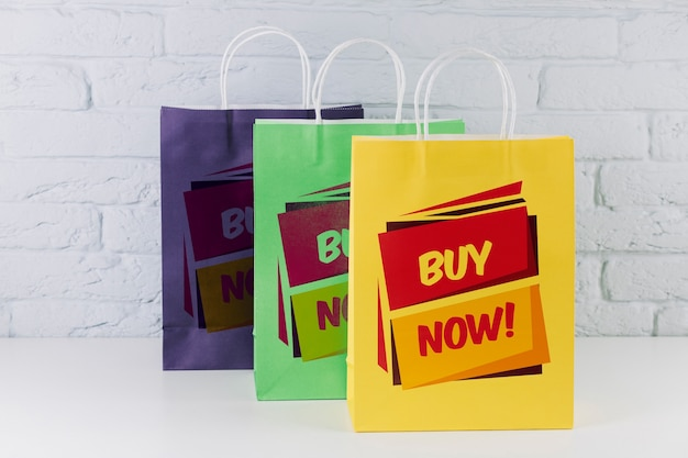 f47cb73ed Shopping bag mockup in different colors PSD file