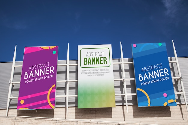 Shopping center billboard mockup Free Psd