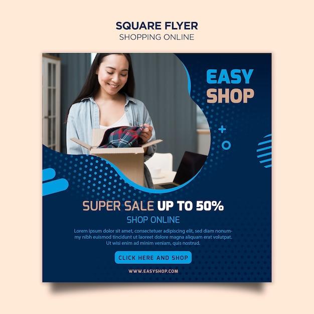 Shopping tema volantino online Psd Gratuite