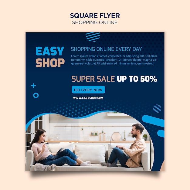 Volantino di shopping online Psd Gratuite