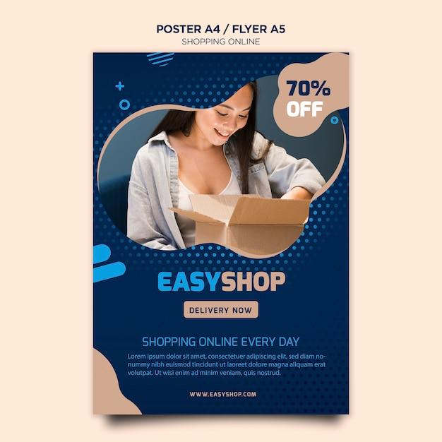 Manifesto dello shopping online Psd Gratuite