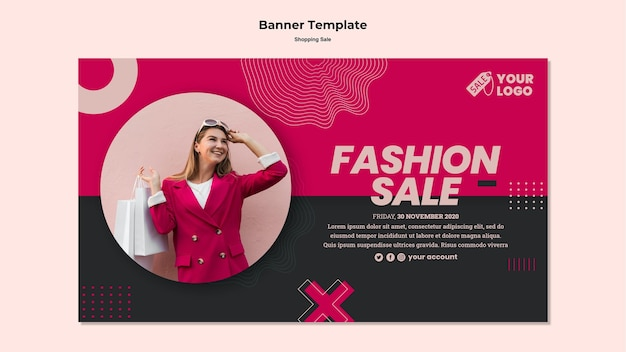 Шаблон баннера для продажи Бесплатные Psd