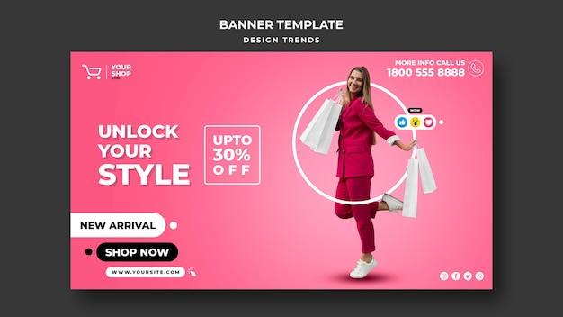 Modello di banner donna dello shopping Psd Gratuite