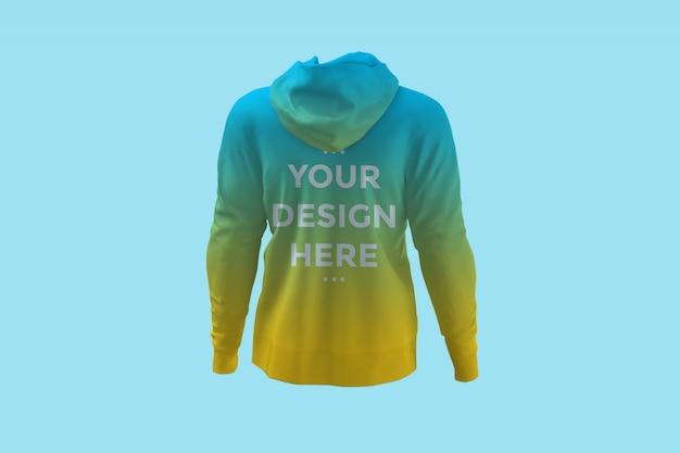 Showcase back of hoodie mockup Premium Psd