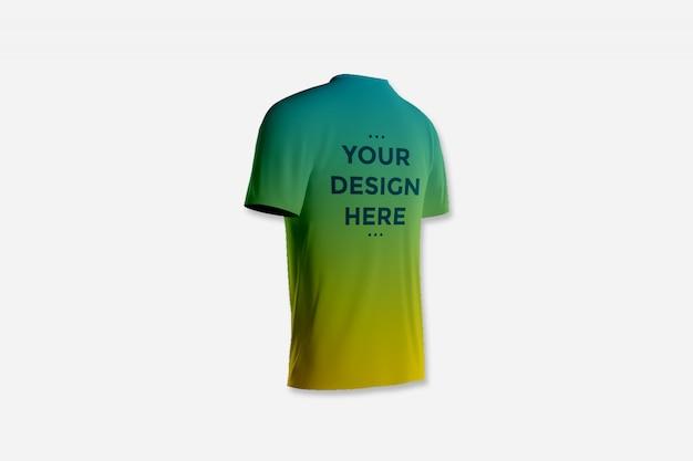 Showcase back of t-shirt mockup Premium Psd