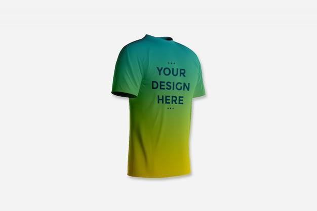 Showcase front of t-shirt mockup Premium Psd