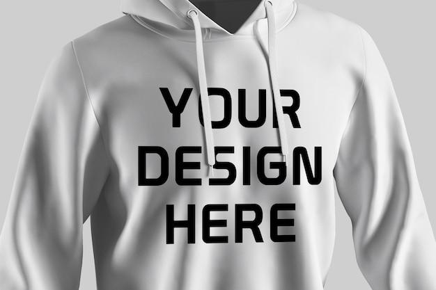 Showcase of hoodie mockup design isolated Premium Psd