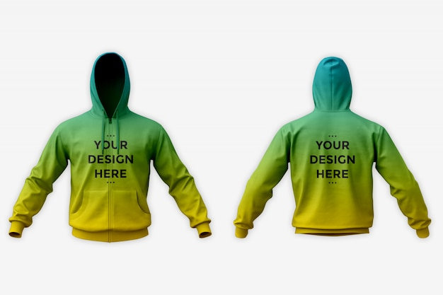 Showcase of hoodie mockup Premium Psd