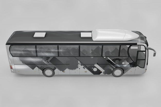 Side view of bus mockup Free Psd