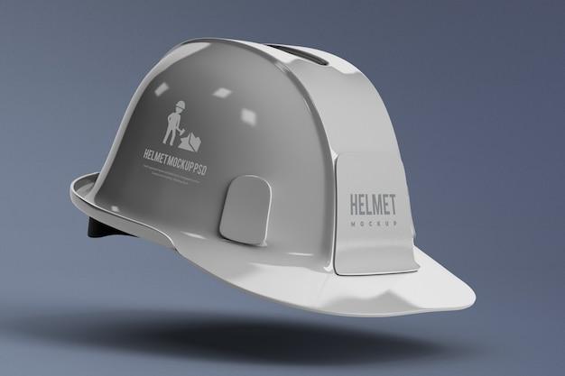 分離された建設ヘルメットモックアップの側面図 Premium Psd