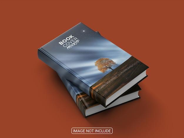 Изолированный макет книги в твердом переплете, вид сбоку Premium Psd