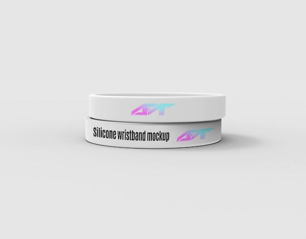 Silicone wristband mockup Premium Psd