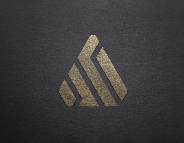 Логотип макет silver & gold Premium Psd