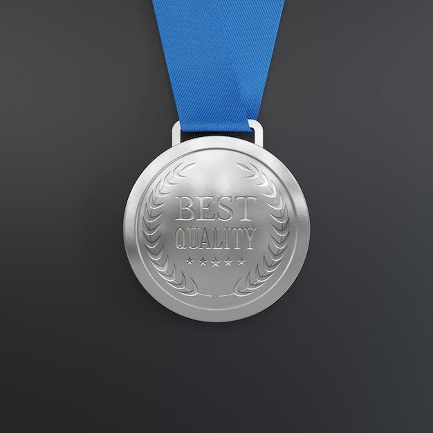 Макет серебряной медали Бесплатные Psd