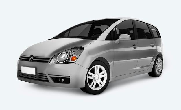 Silver minivan car Premium Psd