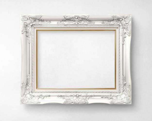 Silver picture frame mockup Premium Psd
