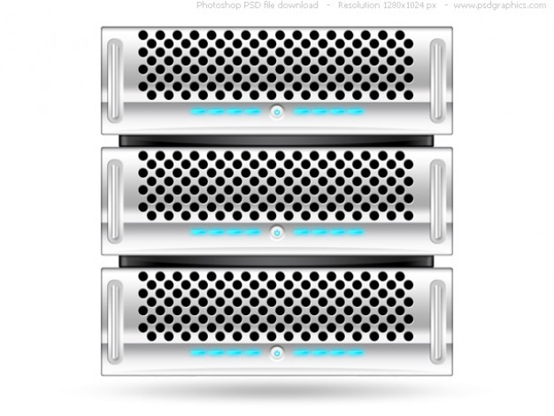 Silver Rack Server Psd Web Icon Free