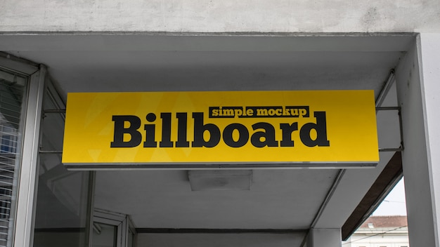 Simple billboard mockup Premium Psd