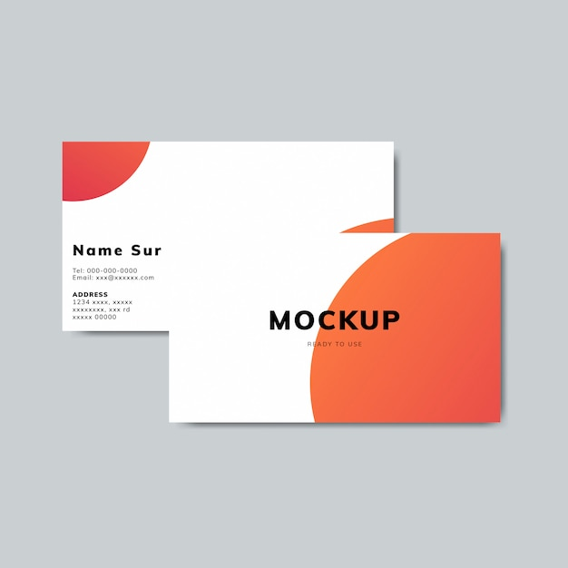 Simple business card design mockup Free Psd