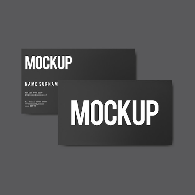 Simple business card design mockup Free Psd