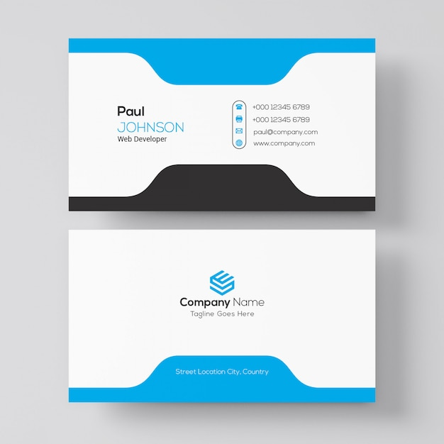 Simple business card Premium Psd