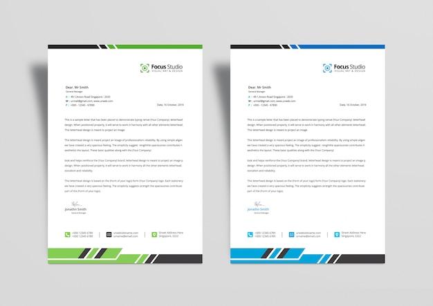 간단한 비즈니스 레터 헤드 디자인 템플릿 Psd 프리미엄 PSD 파일