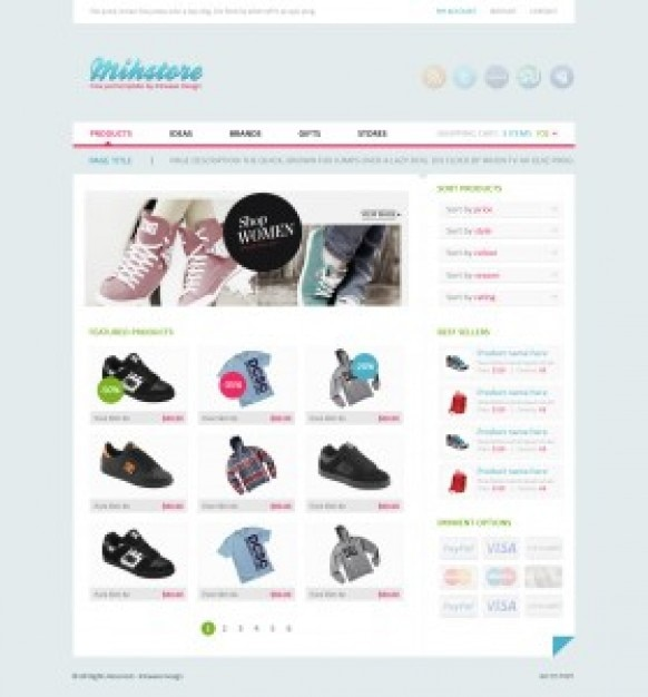 simple clothes store shop template psd file free download