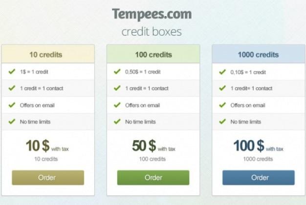Простые коробки кредитной с цветовыми вариациями Бесплатные Psd