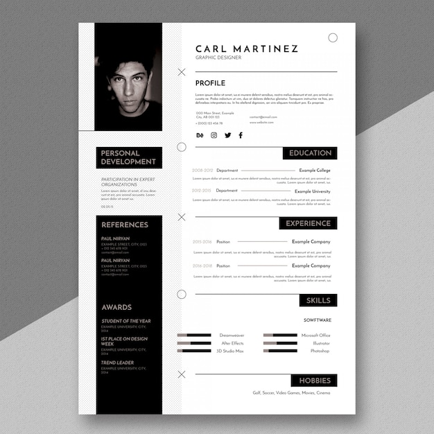 Simple Minimal Resume Template