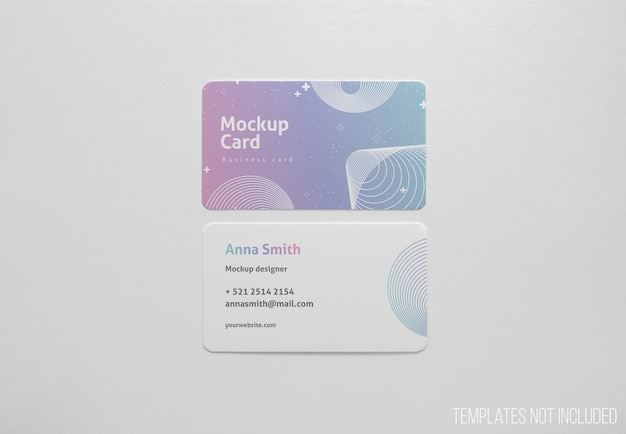 Simple mockup of visiting cards Free Psd