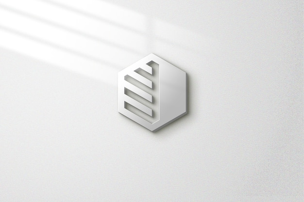 Simple mockup on the wall with light effects Premium Psd
